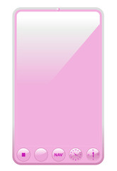 Pink colored tablet for the ladies