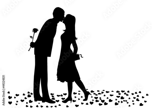 Couple kissing , vector file