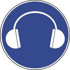 panneau port de casque auditif