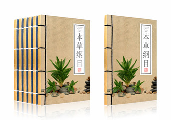 Ancient Chinese medical books (clipping path)