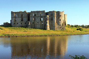 Carew Castle Reflection