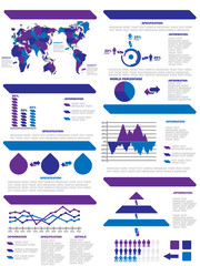 INFOGRAPHIC DEMOGRAPHIC ELEMENTS NEW PURPLE