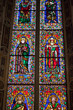Florence -  Santa Croce: the Baroncelli Chapel.  Stained glass