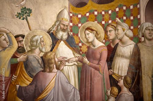Florence -  Santa Croce: Frescoes in the Baroncelli Chapel.