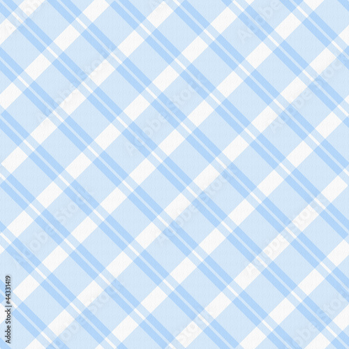 Light blue Plaid Fabric Background