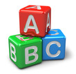 ABC color toy cubes