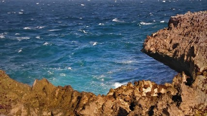 Sharp rocky cliff loop