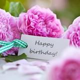 Label with text: Happy Birthday!
