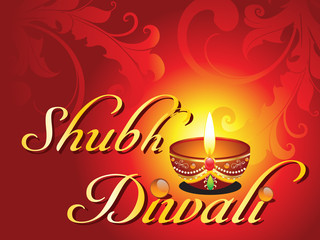 abstract shubh diwali card