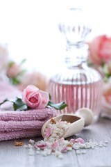 Rose water and bath salt