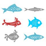 Fototapety fish - funny set