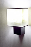 Modern  wall lamp on wall.