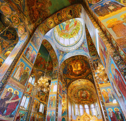 ST. PETERSBURG, RUSSIA FEDERATION - JUNE 29:Interior of Church S