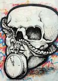 Fototapete Hard rock - Metall - Graffiti