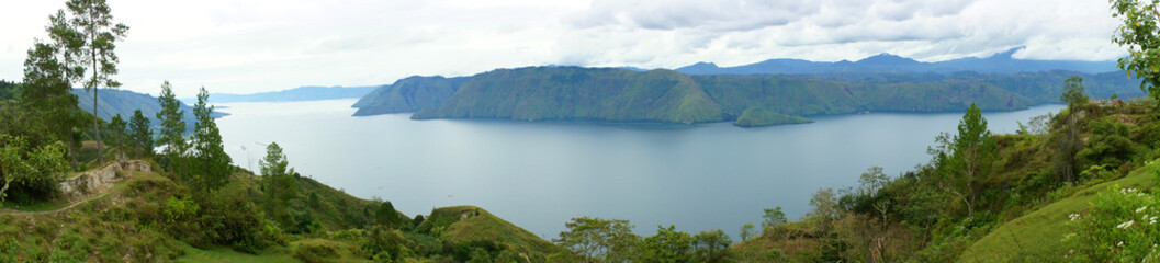 Panorama of Lake toba
