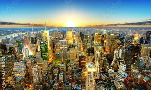 Fototapety, obrazy : Crépuscule sur New York.
