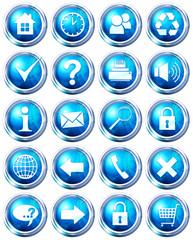 pack icônes bleu