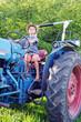 Ich fahre einen großen Traktor