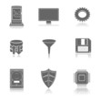 server net vector icon set