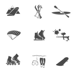 extreme sport vector icon set