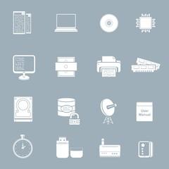 server pc vector icon set