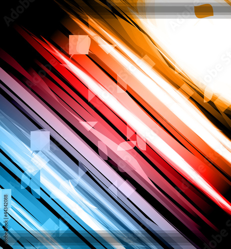 Abstract Glow of Lights background with rainbow colors