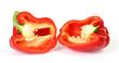 rote Paprika halbiert