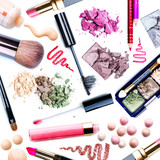 Fototapety Make-up Set. Collage