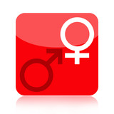 Venus and Mars symbols icon isolated