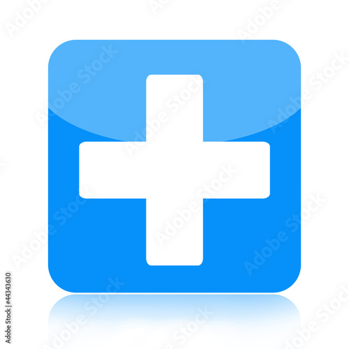 First aid medical icon isolated on white