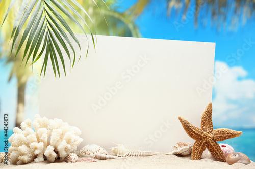 Leinwandbild Motiv Message from beach