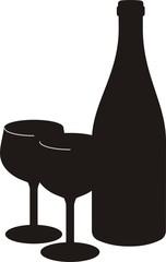 pictogramme bouteille de vin