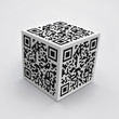 3D cube with QR code