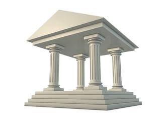 Temple 3d render illustration