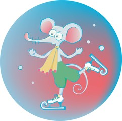 mouse on the skates