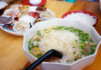 chinese snacks,Yunnan Rice Noodle Soup