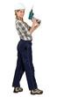 Tradeswoman holding a screwdriver