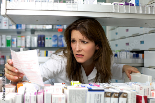 Woman work pharmacy