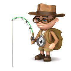 3d Adventurer is fishing