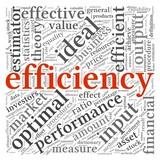 Efficiency concept in tag cloud