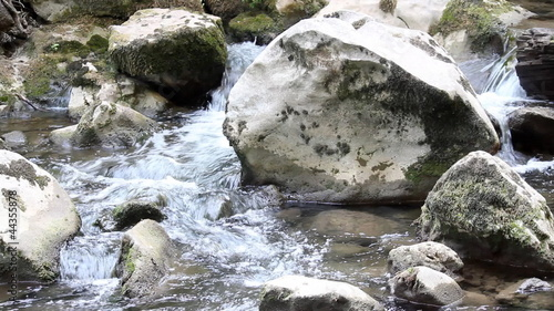 creek with rocks nature scene