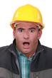 portrait of terrified laborer