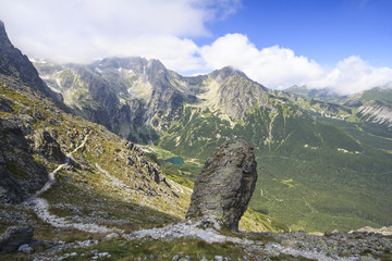 the valley of the Green Tarn, High Tatras in Slovakia