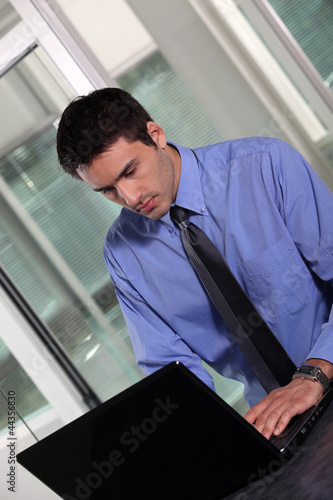 Office worker with laptop