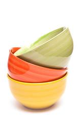 Schale in gelb, orange und grün