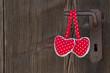 Zwei Herzen - eine Türe
