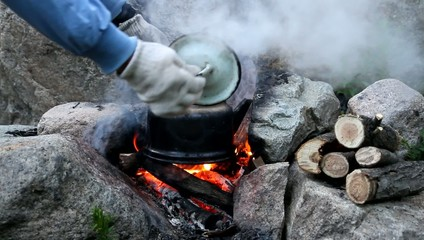 teapot on campfires