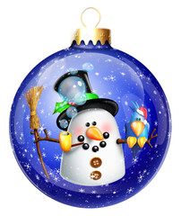 Whimsical Snowman Christmas Ball