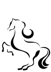 abstract horse shape