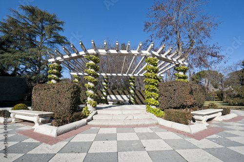 Pergola in Retiro Park, Madrid, Spain